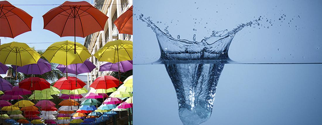 paraguas y salpicadura